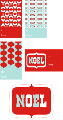 Print out your own gift tags!  Love the colors.