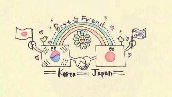 日韓国交正常化から今年で50周年(=´∀`)人(´∀`=)  日本と韓国にとって素敵な1年になりますように!!!! #日韓仲良くなってほしい人RT