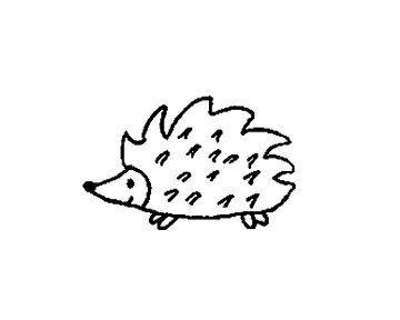 Hérisson Rubber Stamp par terbearco sur Etsy https://www.etsy.com/fr/listing/50132104/herisson-rubber-stamp