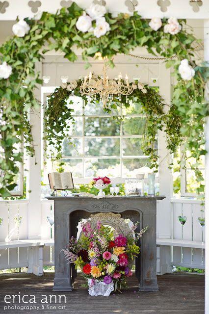 gazebo decor to gorgeous vintage garden wedding close to Salem, OR ...