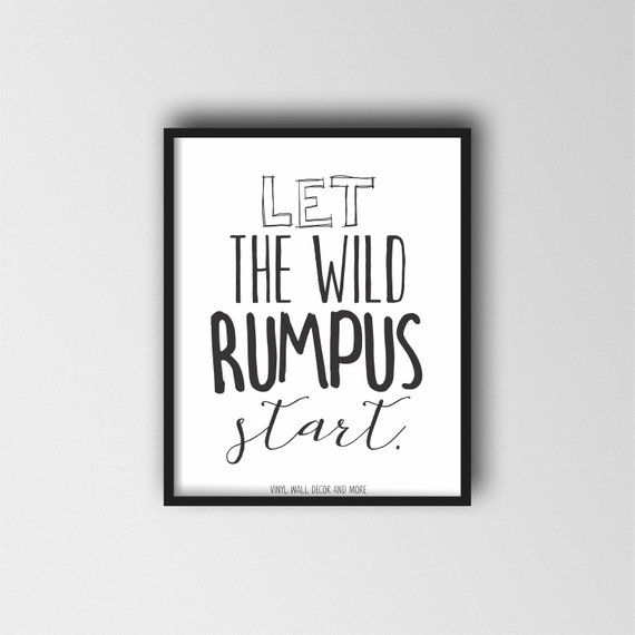 photograph relating to Let the Wild Rumpus Start Printable titled The place the Wild Elements are PRINT. Enable the Wild rumpus start off