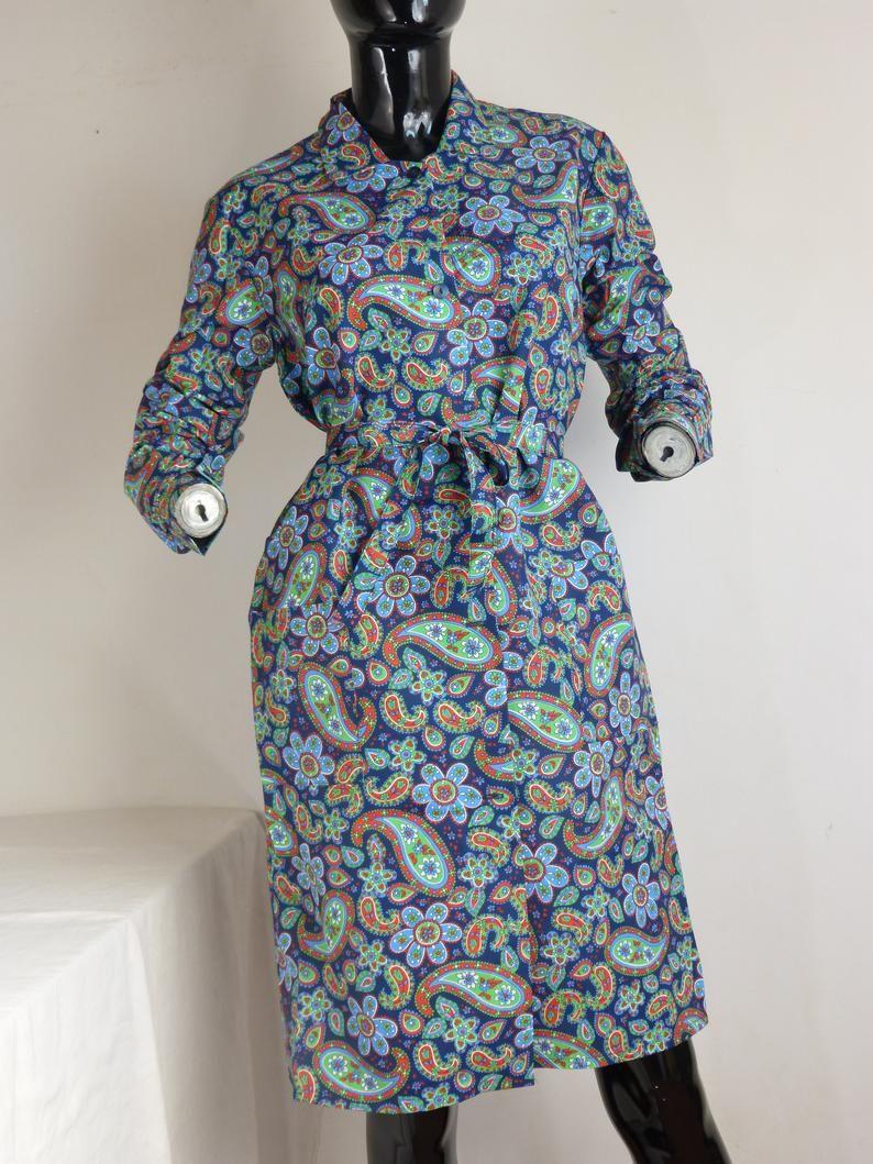 Unused Nos Duster House Dress Long Sleeves Belt Mid Etsy House Dress Long Sleeve Dress Long Dress [ 1059 x 794 Pixel ]