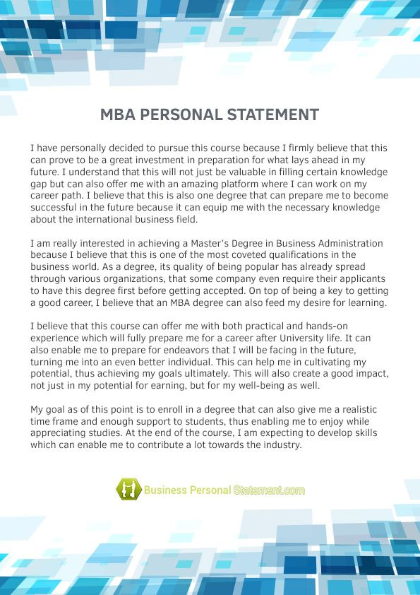 pin by business personal statement samples on mba personal