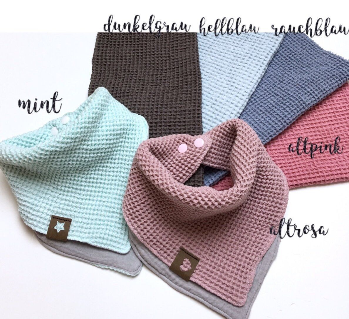 Photo of Muslin neckerchief baby child layer look with waffle pique