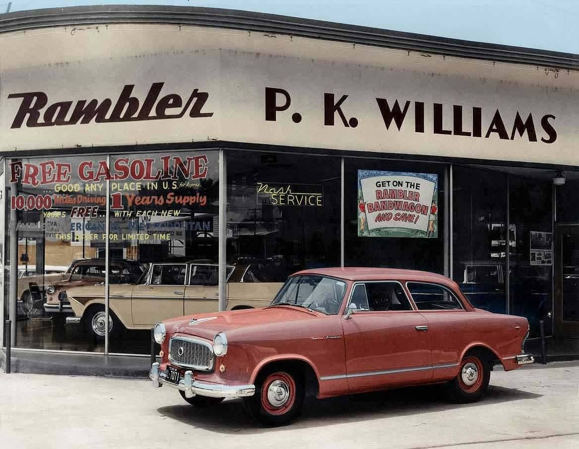 Pk williams rambler cars dealer austin texas 1959