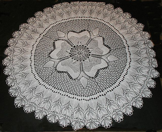 Rose of England lace pattern. If I ever made this, Id be ...