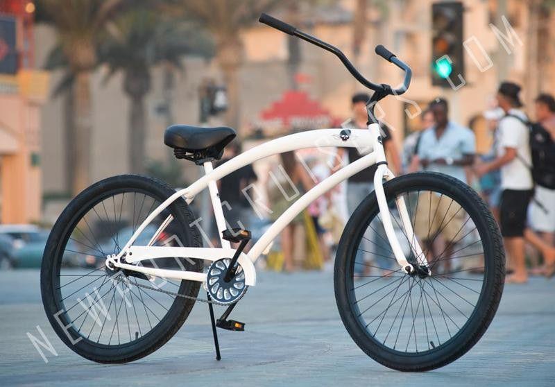 Skull x bones single speed bicycle beach cruiser bikes