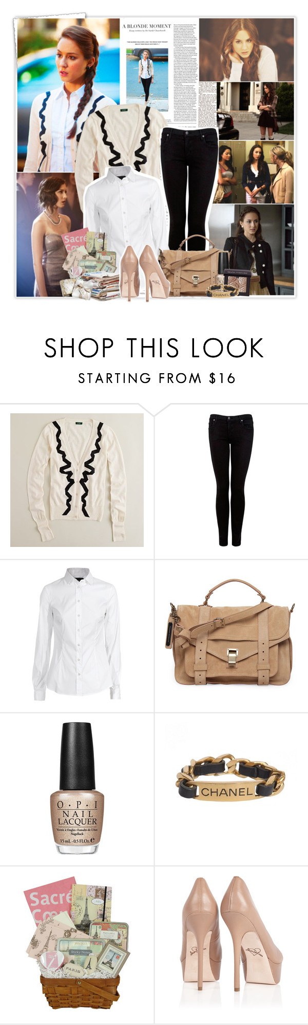 """""""TV show Style Diary: Spencer Hastings {PPL}"""" by ashleypetrova ❤ liked on Polyvore featuring Scoop, J.Crew, Citizens of Humanity, D&G, Proenza Schouler, OPI, Chanel, Local Celebrity and Sam Edelman"""