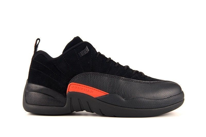 Nike Air Jordan Retro 12 Low Black Max Orange Anthracite 308317 003 Men SZ  8-