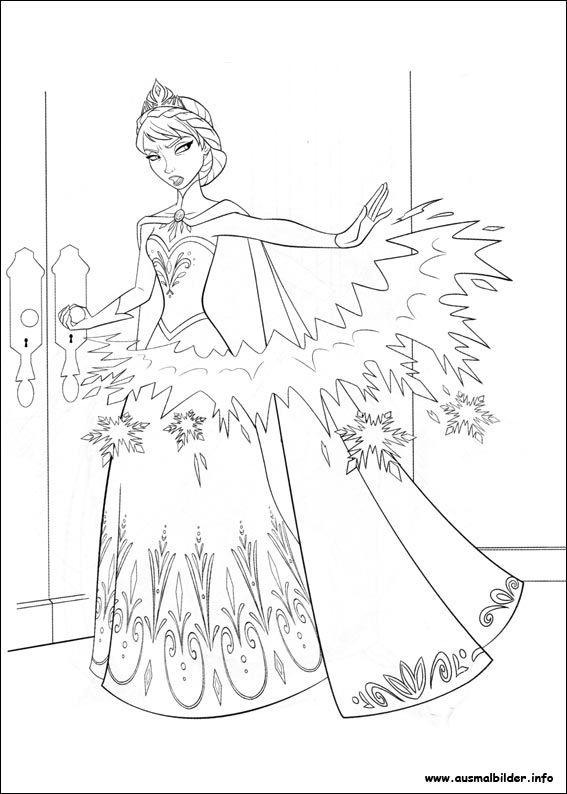 Gratis ausmalbilder eiskönigin 05 Disney prinzessin