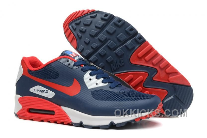 Buy New Arrival Nike Air Max 90 Hyperfuse QS Mens Dark Blue Red from  Reliable New Arrival Nike Air Max 90 Hyperfuse QS Mens Dark Blue Red  suppliers.