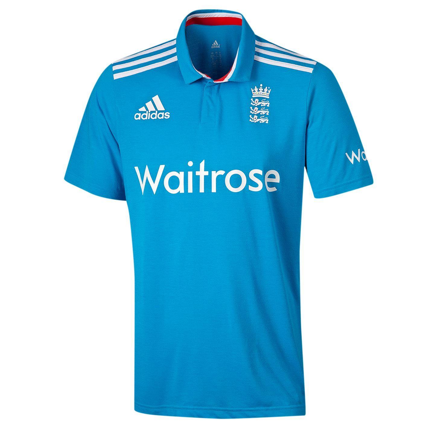 adidas Howzat Long Sleeve Kids Cricket Whites Polo Shirt Top Jersey White
