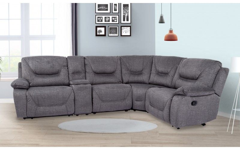 Durable Structure Premium Fabric And Ergonomical Design Recliner Feature High Comfort Level Corner Sofa Sofa Online Furniture