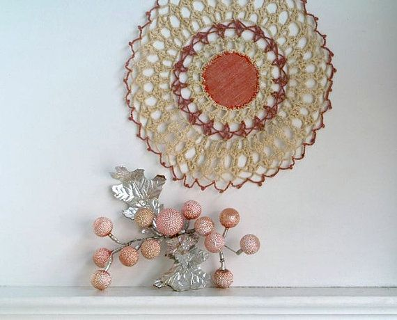 Vintage 1940s Pink Glass Whimsical Spray Ornament from 5gardenias on etsy