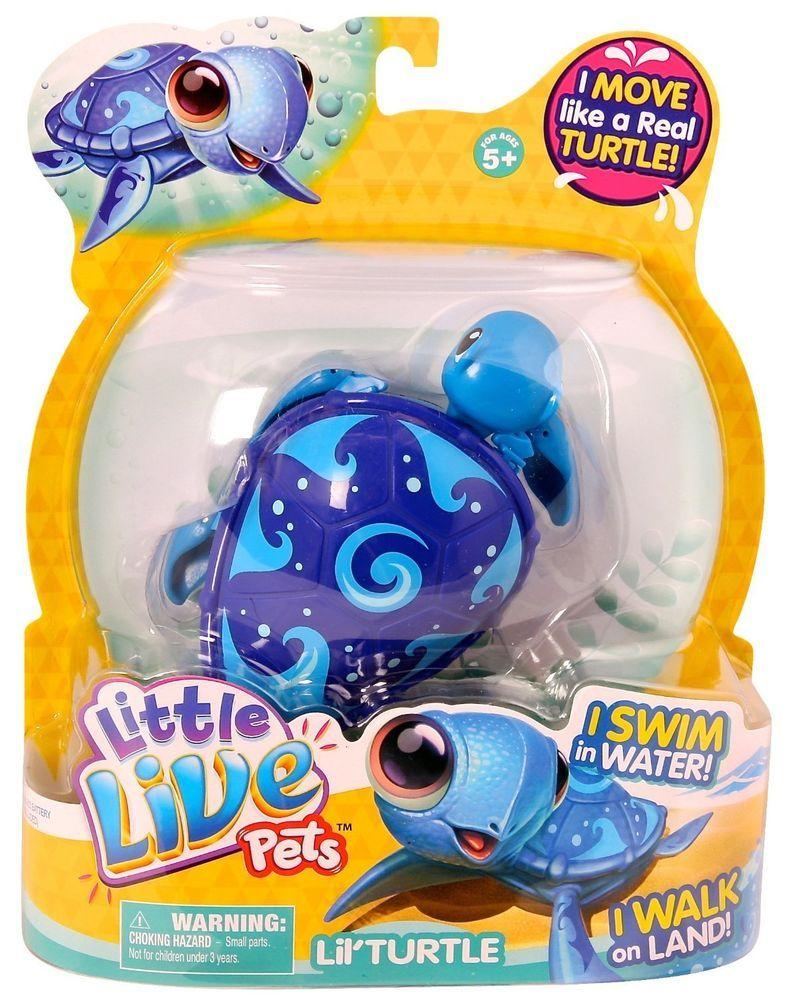 Little Live Pets Lil Turtle Wave Blue Turtle New