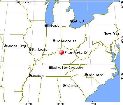 Frankfort Kentucky Ohio Map Indiana Map Map