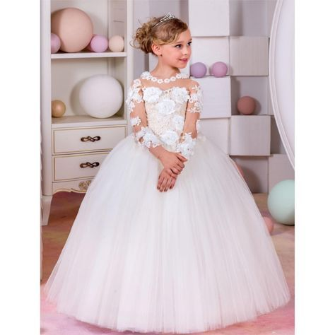 472fa63cf Find More Flower Girl Dresses Information about 2017 Sexy Full O ...