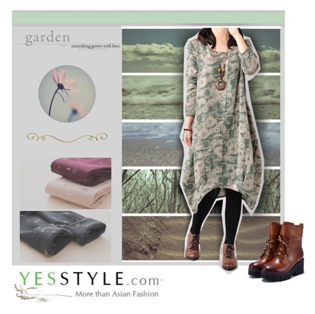 """YESSTYLE Nature Girl"" by annette-heathen ❤ liked on Polyvore featuring LA SHOP, Trilogy, yesstyle, blackfriday, cybermonday and oversizeddress"