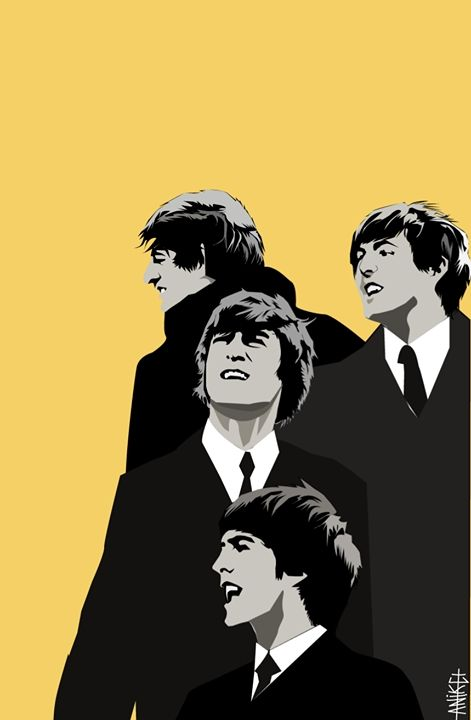 Beatles Vector Art Made By Me Beatles Art The Beatles Music Photography