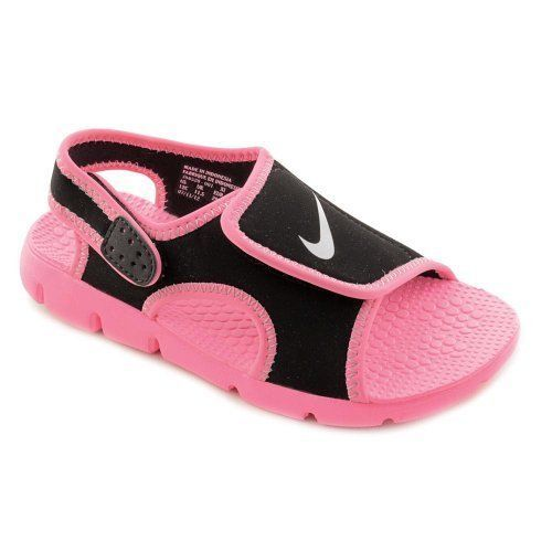 bce797ae5a5952 Nike Sunray Adjust 4 Infant Toddler Little Baby Girl Adjustable Sandals 3 M  Pink  Nike
