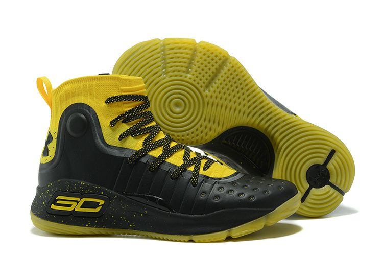 reputable site 096aa addab 2017 Under Armour Curry 4 Black Yellow Shoes Free Shipping Stephen Curry  Basketball, Curry Basketball