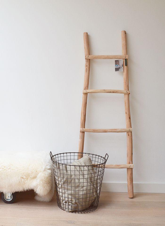 Robuuste Houten Ladder.Houten Decoratieladder In 2019 Babykamer Kinderkamer Decoratie