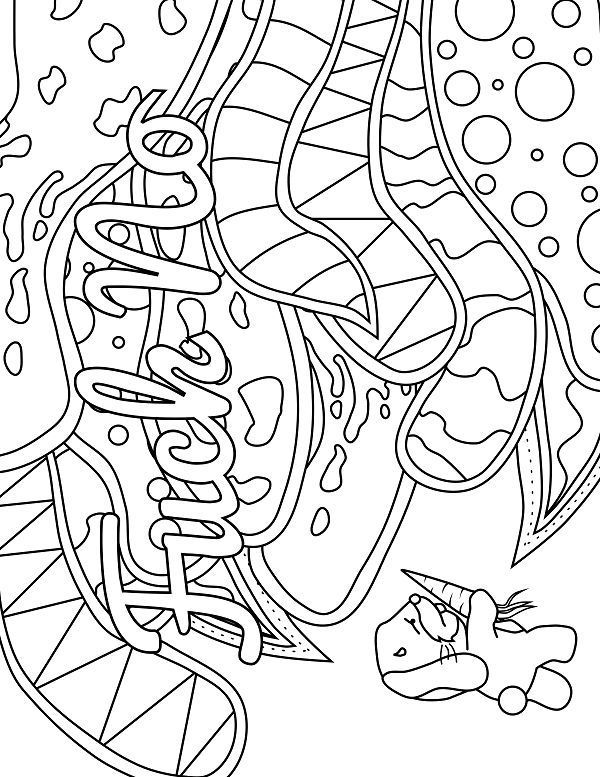 bunny adult coloring page swear 14 free printable coloring rh pinterest com