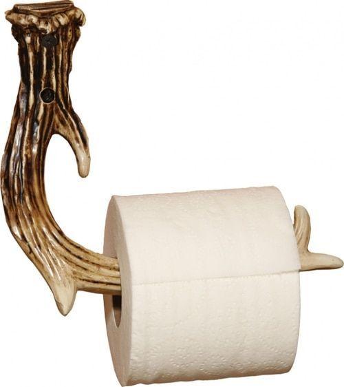 Rustic Antler Toilet Paper Holder images