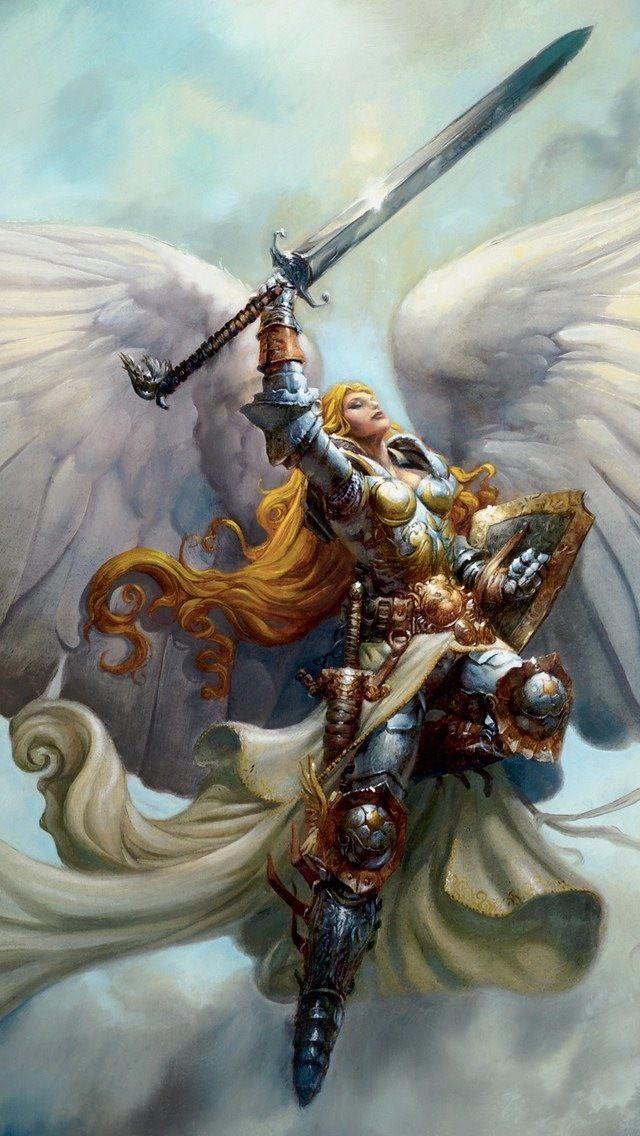 Warrior Angel Imagenes De Angeles Celestiales Arte De Angel