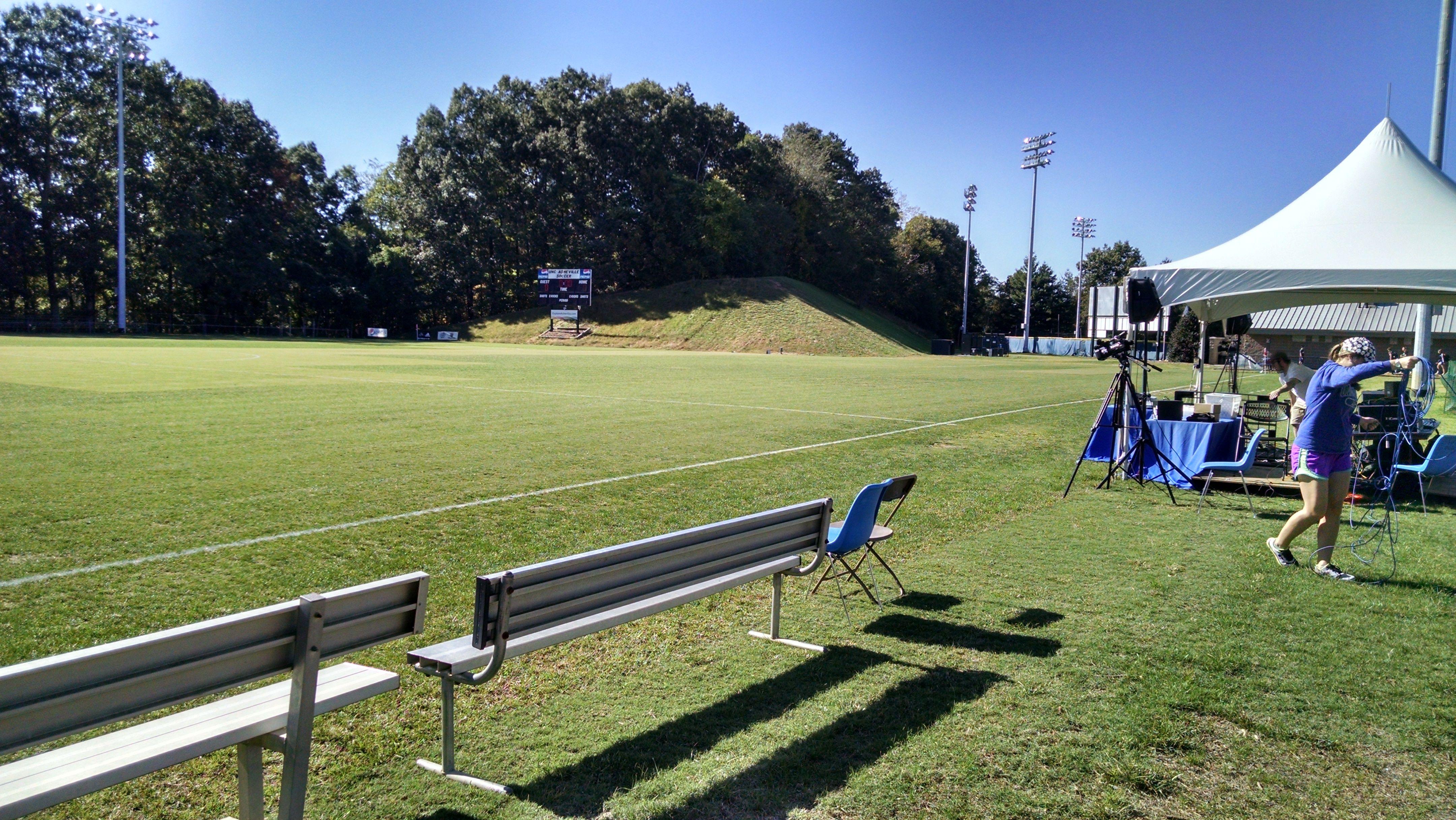 College soccer at UNCA. October 2014. College soccer