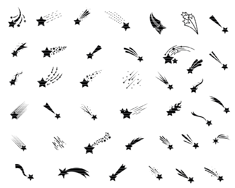 Stars Svg Bundle Star Vector Shooting Stars Svg File For Etsy In 2021 Shooting Star Tattoo Star Tattoos Star Svg