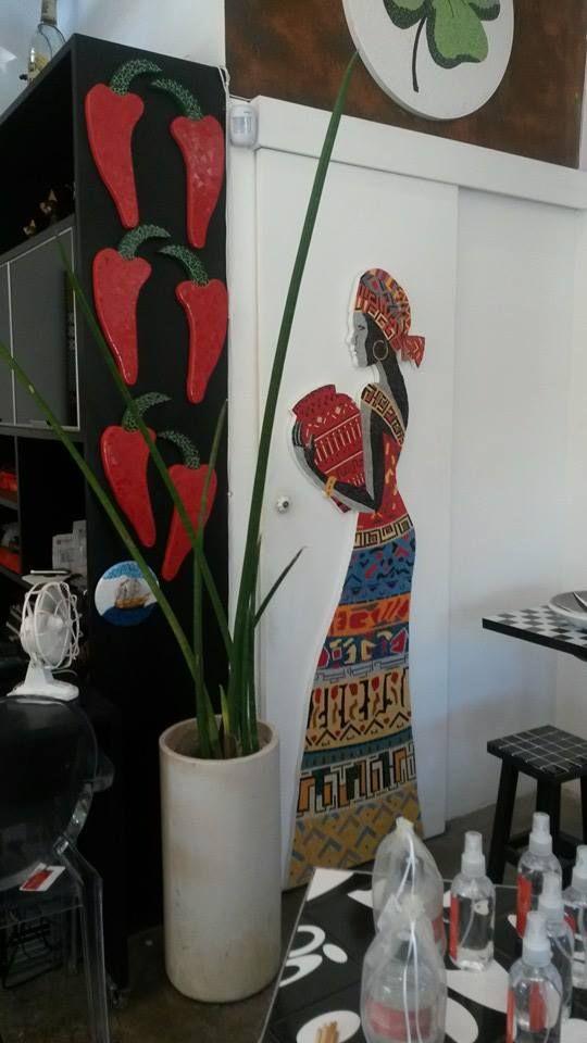 Mosaicos Portella | Arte & Decoração #Arte #Mosaicos #Decoracao #africana #pimentas #trevo