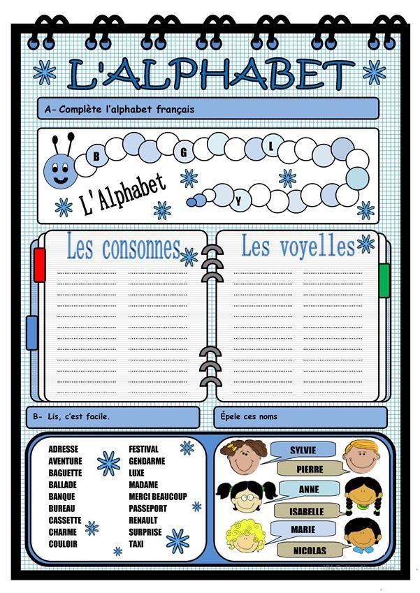 ALPHABET | Alphabet francais, Fiches pédagogiques et Alphabet