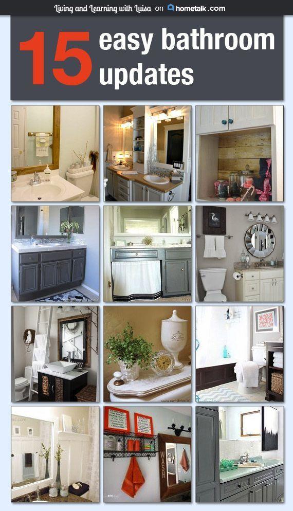 15 Easy Bathroom Updates Easy Bathroom Updates Bathroom Update
