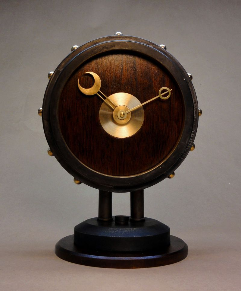 The Steampunk Modern Desk Clock Entirely Hand Made From The Base