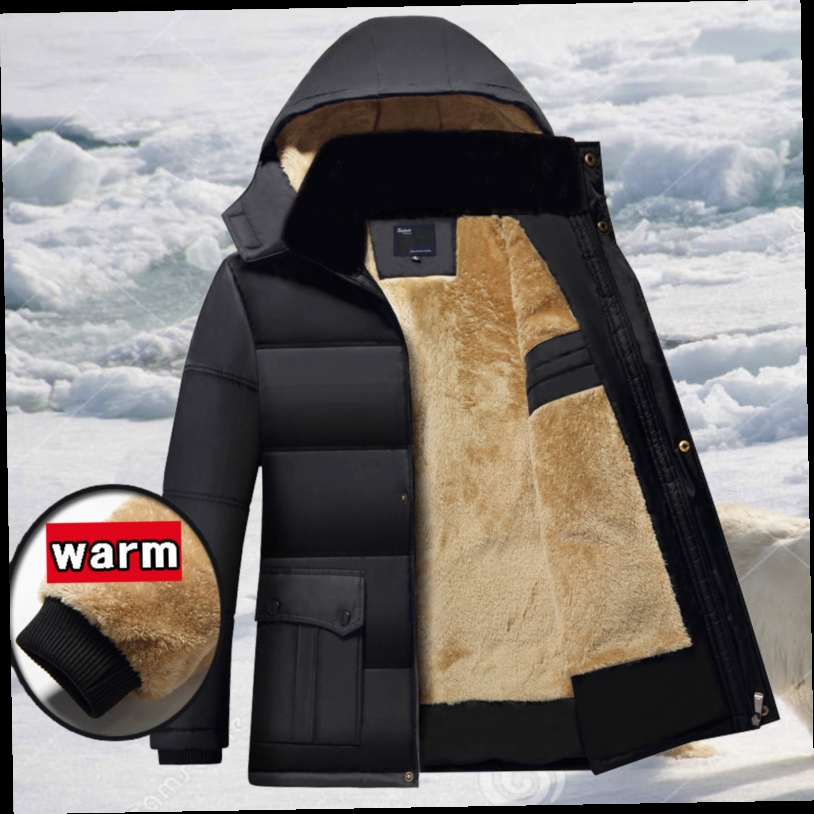 42.84$  Buy here - http://alisfy.worldwells.pw/go.php?t=32728541553 - Winter Men Parkas casual Jackets Man Hooded windproof Thick Warm Outwear Overcoat Wadded style Solid Fur collar Coat 5XL