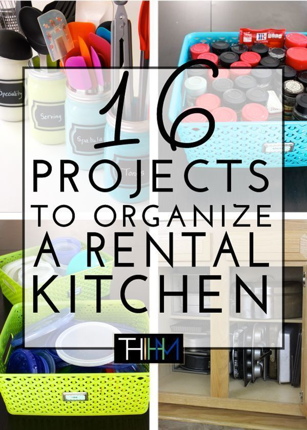 16 Projects to Organize a Rental Kitchen is part of Projects To Organize A Rental Kitchen The Homes I Have Made - If you're a renter and frustrated by your kitchen, check out these 16 renterfriendly projects to organize a rental kitchen!