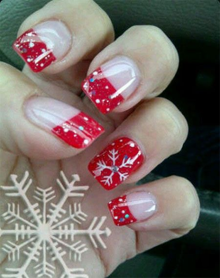 Christmas Gel Nails Nails Pinte