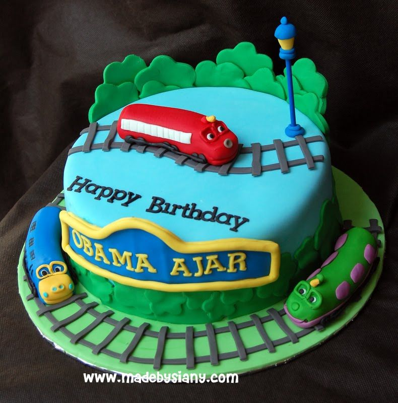 made by Siany Chuggington cake theme Transportation cupcake n