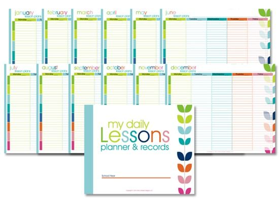 Printable Homeschool Lesson Planner Confessions Of A Homeschooler