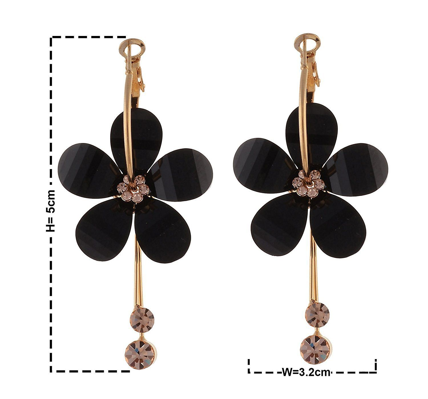 278dc3947 Buy YouBella Jewellery Gold Plated Fancy Black Party Wear Dangle & Drop  Earrings for Women Online at Low Prices in India   Amazon Jewellery Store -  Amazon. ...