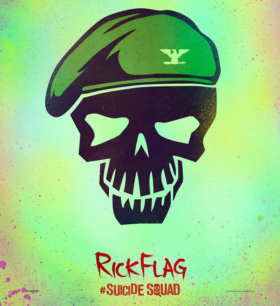 Suicide Squad Rick Flag character poster First Suicide Squad Posters Arrive: Worst. Heroes. Ever.