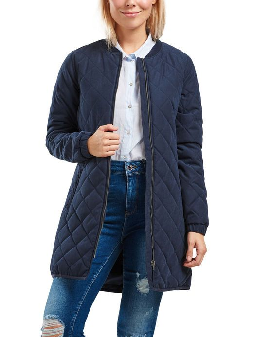 7ce97cac LANG QUILTET JAKKE, Night Sky | Tøj | Long jackets, Jackets, Night skies