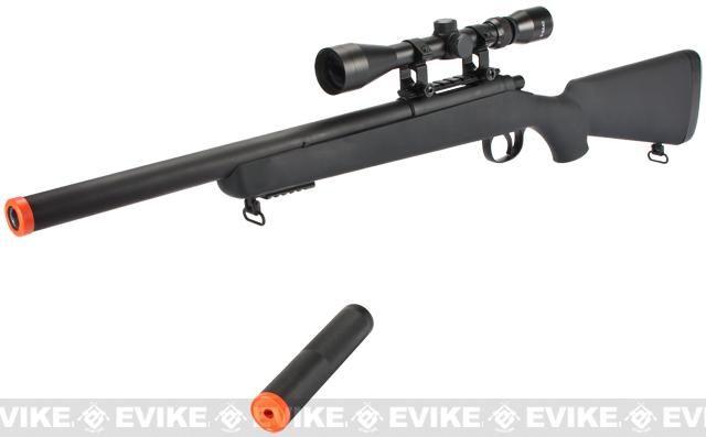 CSI VSR-10 G-SPEC Bolt Action Airsoft Sniper Rifle with Mock Silencer -