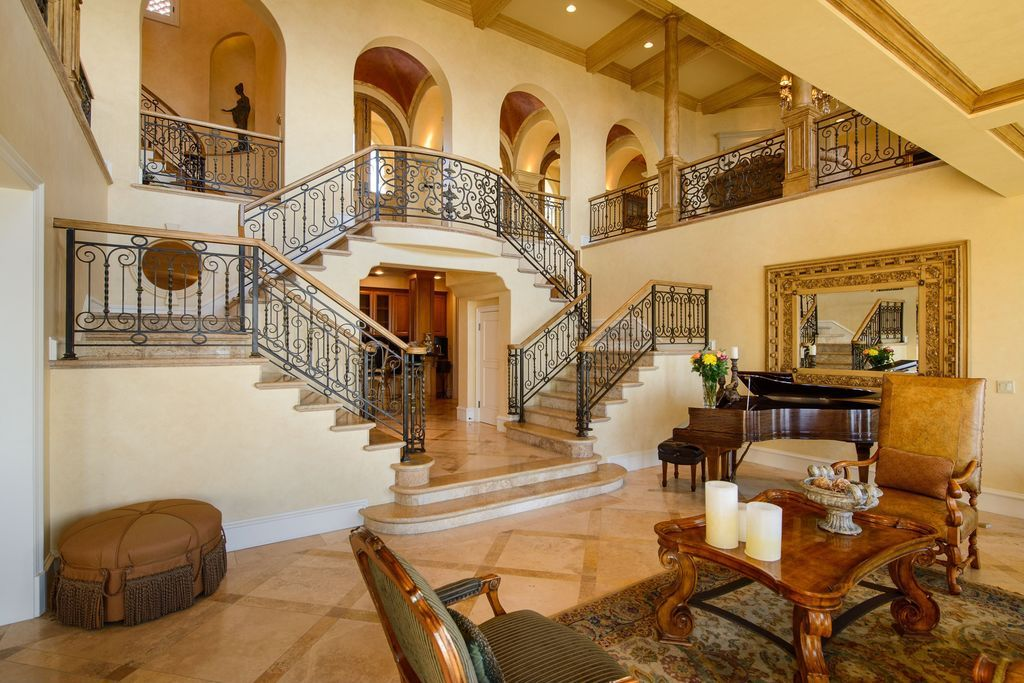 Best Mediterranean Staircase With Exposed Beam Crown Molding 640 x 480