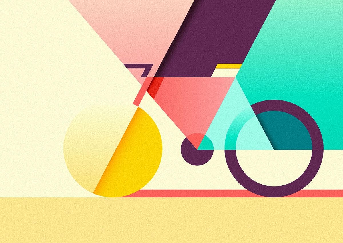 Art Design Shapes : Graphic and colorful illustrations by ray oranges