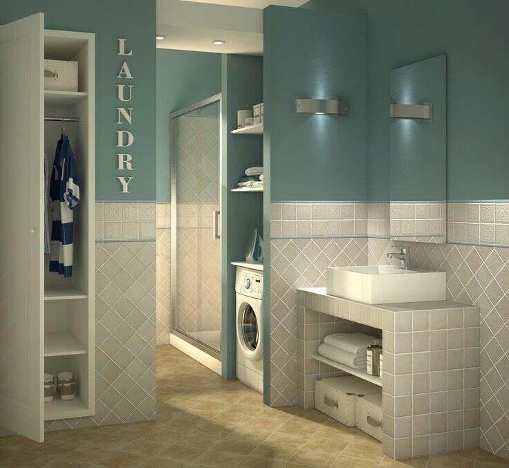 bagno in muratura con lavatrice | bathroom | pinterest | laundry ... - Arredo Bagno Muratura