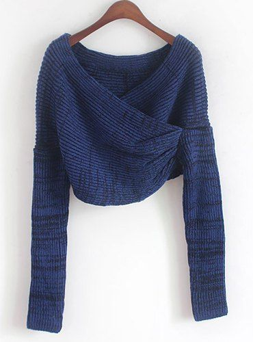 Long Sleeves Solid Color Asymmetric Stylish Sweater For Women  21b437e32