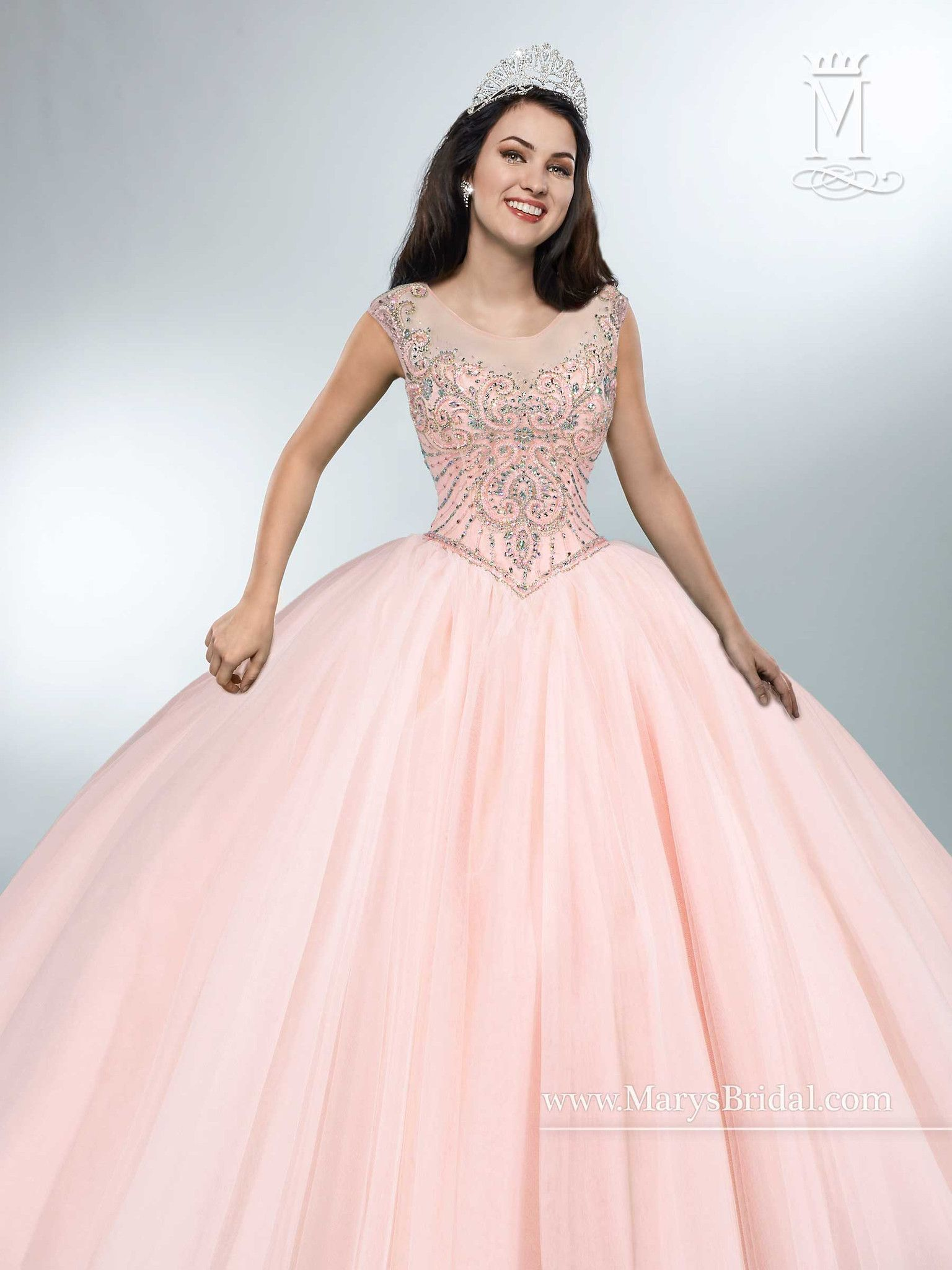 183d27faf3c Create amazing memories in a Mary s Bridal Beloving Collection Quinceanera  Dress Style 4694 at your Sweet 15 party or at any formal event.