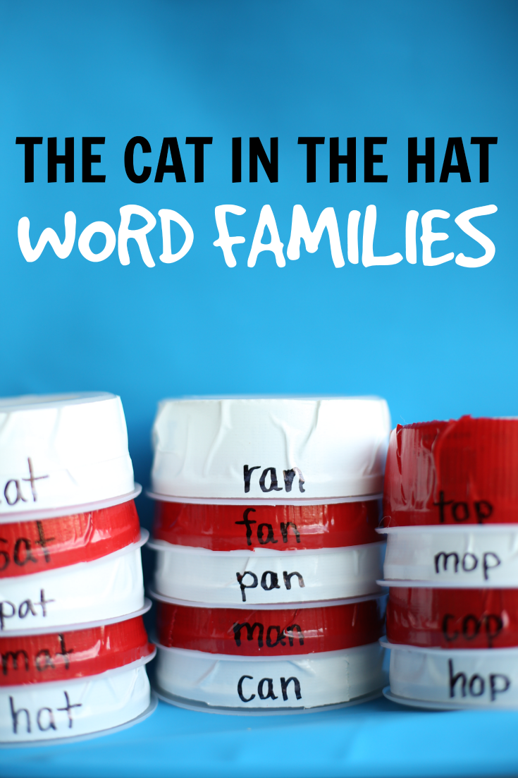 d8e75e72 The Cat in the Hat Word Families: Build Hats using words in each word  family!